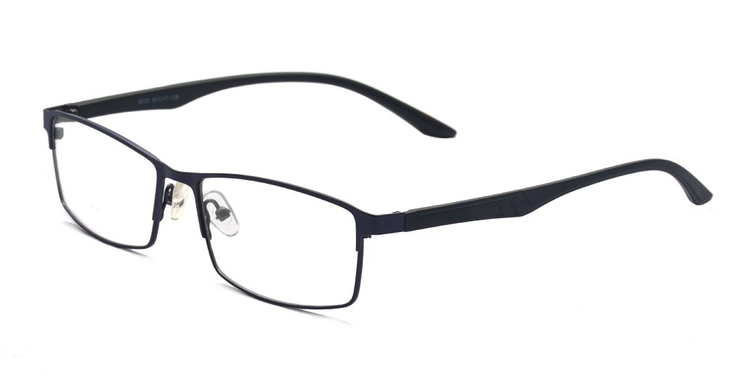 ALWAYSUV Black Myopia Glasses TR90 Frame Shortsighted Nearsighted Eyeglasses for Men Women (Strength: -1.0)
