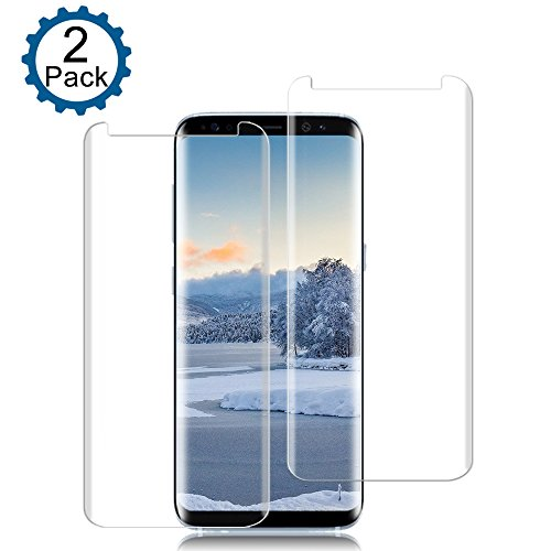 [2 Pack] Galaxy S8 Screen Protector, Live2Pedal [9H Hardness][Anti-Scratch][Anti-Bubble][3D Curved] [High Definition] [Ultra Clear] Tempered Glass Screen Protector for Samsung Galaxy S8 from Live2Pedal