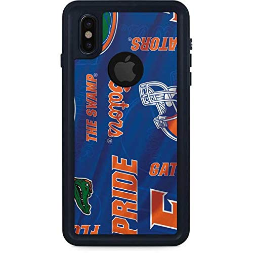 Skinit Florida Gators Pattern iPhone X Waterproof Case - Officially Licensed Phone Case - Fully Submersible - Snow, Dirt, Water Protected iPhone X Cover