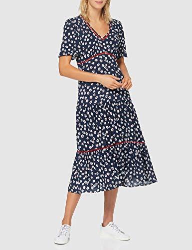 Tommy Hilfiger Tjw Printed Lace Trim Dress Vestido Para Mujer