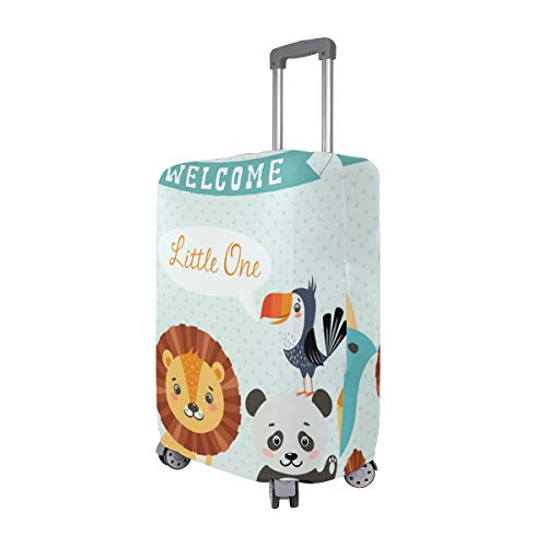 Price comparison product image Cute Jungle Animal Lion Bird Monkey Travel Luggage Covers Suitcase Protector Protective Cover For Adult Teen Women Men Children Size XL