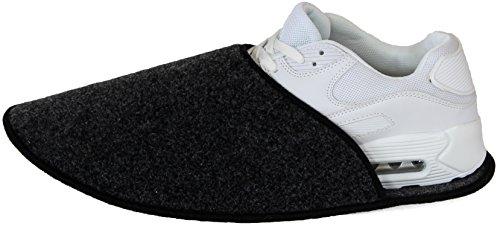 9afeea403d01c Sur-chaussons d Intérieur Légers pour Chaussures pantoufles musée  Anthracite éventuellement avec sans ABS ressenti unique  Amazon.fr   Chaussures et Sacs