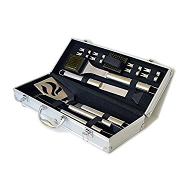 Culina® BBQ set 14 pcs Stainless Steel Stow Aluminum Carry Case