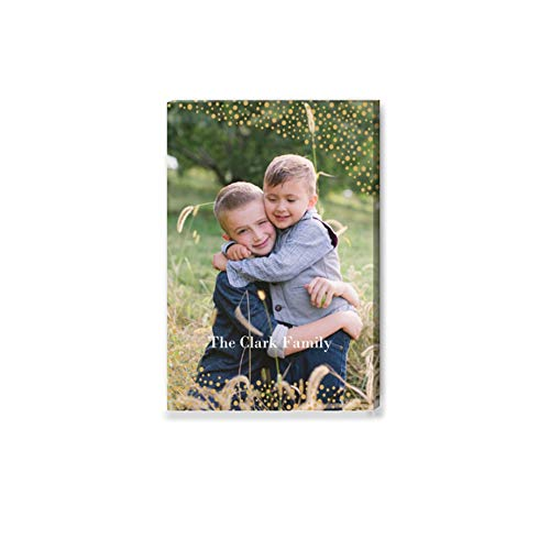 (WiHoo Your Personalised Photo Image Picture on Canvas Print Framed Ready to Hang Wall Art (8 in x 12)