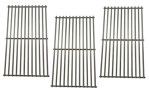 Hongso SCD453 BBQ Barbecue Replacement Stainless Steel Cooking Grill Grid Grate for Master Centro, Charbroil, Sam's Club, Members Mark, Jenn-Air, and Other Model Grills, Set of 3