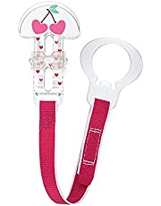 MAM Pacifier Clips, Baby Pacifier Clip, Animal' Design Collection Pacifier Clip, Girl, 1-Count, Designs May Vary