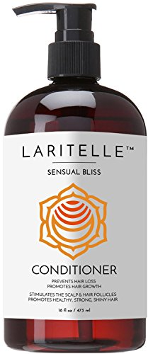 Laritelle Organic Conditioner, Hair Loss Prevention, Anti-Breakage, Split Ends Treatment, Argan Oil, Rosemary and Palmarosa, NO GMO, Sulfates, Gluten, Alcohol, Parabens, Phthalates, 16 oz