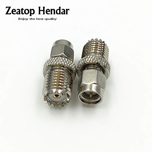 Gimax 50Pcs Brass SMA Male Plug to Mini UHF Female Jack RF Coaxial Straight Adapter 50 Ohm Nickel plated Connector