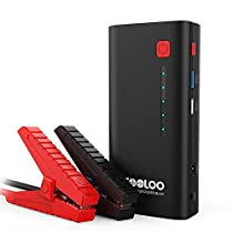 Upgraded Car Jump Starter, GOOLOO 800A Peak 18000mAh (Up to7.0L Gas or 5.5L Diesel Engine) Portable Auto Battery Booster Power Pack Phone Charger with Quick Charge 3.0, Built-in LED Light
