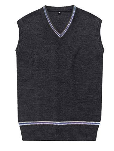 (Amayar Cosplay Costumes Unisex Sweater Fall and Winter Vest Waistcoat,Large,Blue)