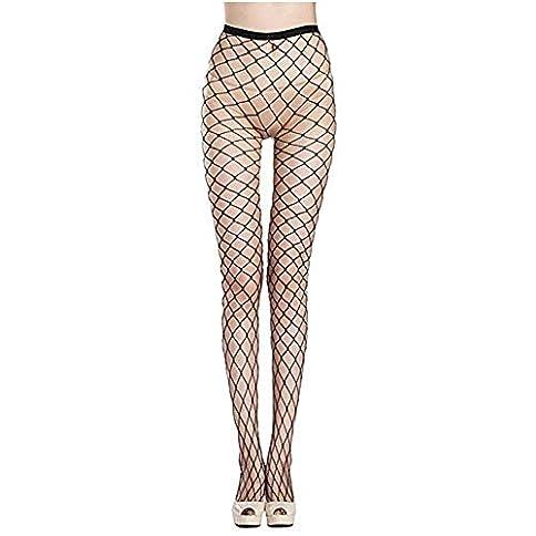 - 41cahAkT0DL - GFsnow Women Seamless Tight Stockings Net Big Cross Fishnet Nylon Large Mesh Pantyhose