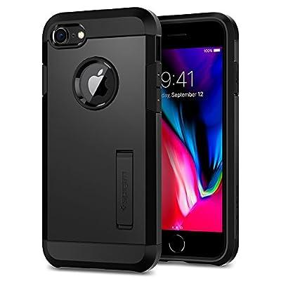 Spigen Tough Armor [2nd Generation] Works with Apple iPhone 8 Case (2017) / Works with iPhone 7 Case (2016) - Black