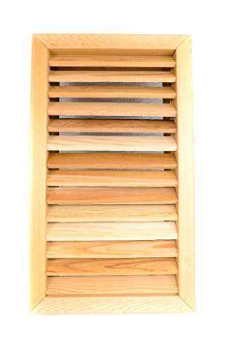 Miller Shingle Rectangle Clear Cedar Vent, Recessed Mount - 14 inch x 24 -
