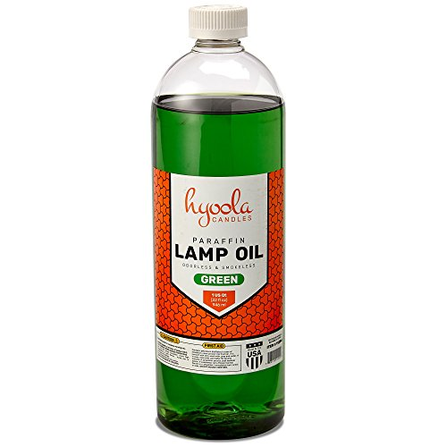 Liquid Paraffin Lamp Oil - Green Smokeless, Odorless, Ultra Clean Burning Fuel for Indoor and Outdoor Use - Highest Purity Available - 32oz - by Hyoola ()