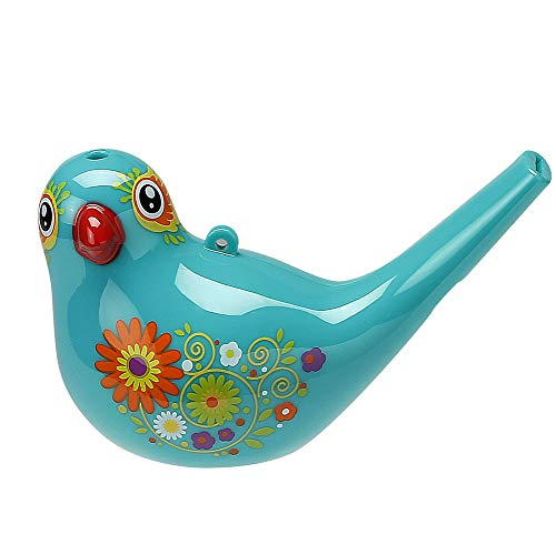 Bird Whistle, Bath Toy, Bird Toy for Kids, Birthday Gift,, Easter Gift, Adorable, Durable, Non-Toxic, Cyan, Upgrade Version -