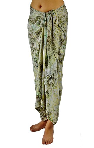 Discount Lotus Resort Wear Handcrafted Batik Sarong, Pareo, Scarf, Bathing Suit Wrap, Bikini Cover up From Bali free shipping