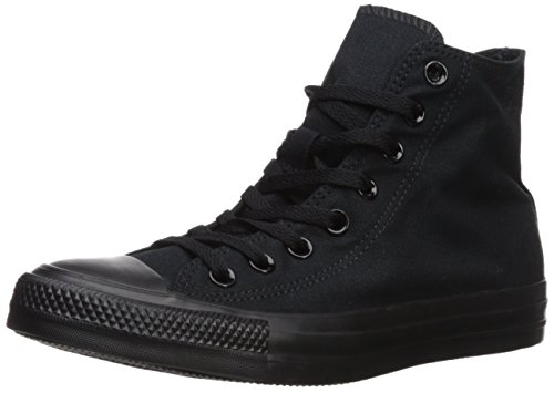 Converse All Star Hi Tops - Converse Unisex Chuck Taylor All Star Hi Top Mono Black Sneaker 10.5
