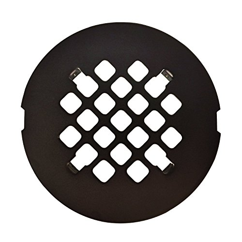 Oil Rubbed Bronze Round Snap-In Shower Drain Grate 4 1/4
