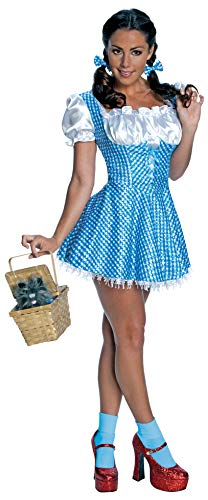 (Secret Wishes  Women's Wizard of Oz Sequin Dorothy Costume, Blue/White,)