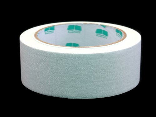 Acid Free Fabric (BookGuard 1-1/2 Inch  Vinyl-Coated Cotton Cloth Book Binding Repair Tape, 15 Yard Roll, White)