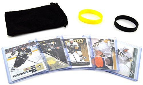 Sidney Crosby (5) Assorted Hockey Cards Bundle - Pittsburgh Penguins Trading Cards - # (Nhl Sp Authentic Trading Card)