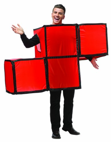 [Rasta Imposta Unisex Tetris Tetrimino, Red/Black Trim, One Size] (Cheap Maternity Halloween Costumes)