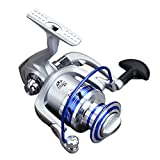 Iusun Spinning Reels Full Metal Fishing Reel 12BB 5.1:1 Saltwater Freshwater Wheel Gear Light Weight Ultra Smooth Powerful Spinning Fishing Reels Low Profile Baitcasting