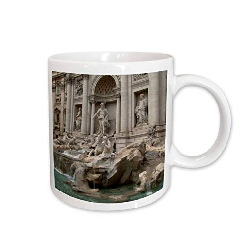 3dRose Trevi Fountain in Rome, Italy Places to Travel Ceramic Mug, 15-Ounce