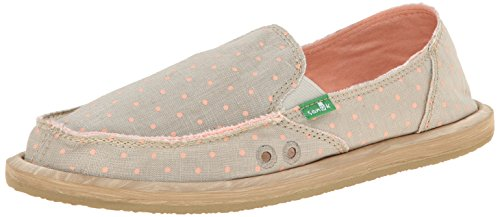 Womens On Dots Dotty Sanuk Slip Natural Hot Peach SxEnqBw1