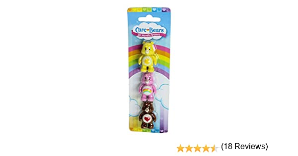 Care Bears Pack of 3 Novelty 3D Erasers Rubbers