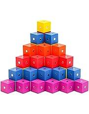 Balacoo 30Pcs Magnetische Blokken Houten Magnetische Blokjes Innovatieve Magnetische Bouwstenen Kids Autisme Speelgoed Zintuiglijke Speelgoed