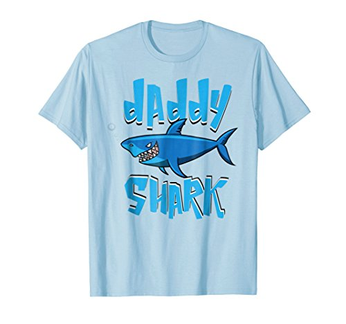 Daddy Shark Shirt | Cute Papa Loves Sharks Tee Gift ()