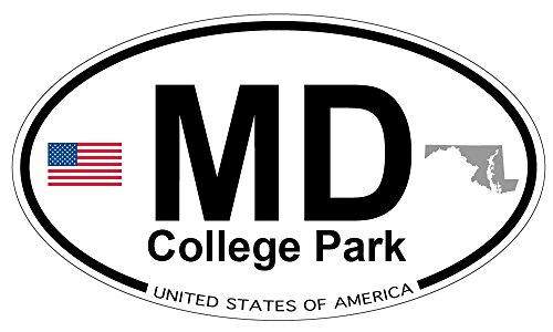 College Park, Maryland Oval Magnet