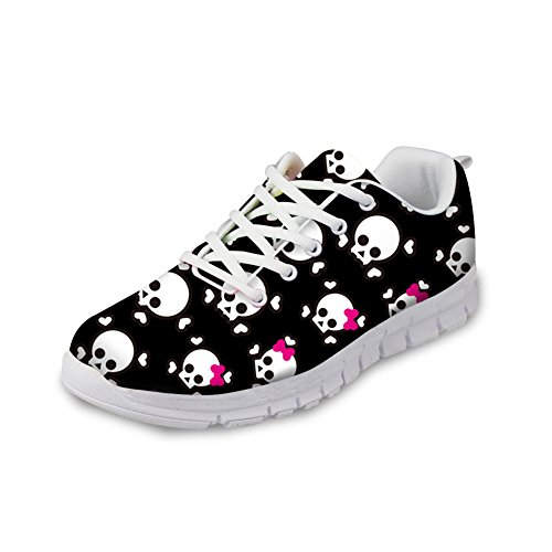 Bigcardesigns Noir Zombie Léger Décontracté Mesh Sneakers Sport Chaussures 36