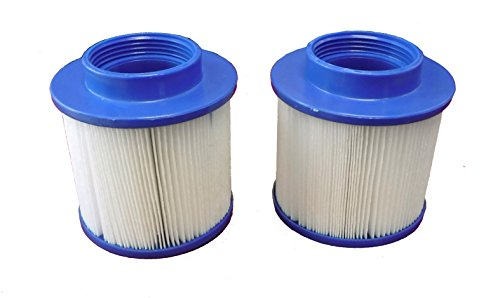 Smart Spa – Aqua Spa PH050013, PH050015, PH050017, PH050018 Replacement Spa Filter - Set of 2 - Note - FILTERS ONLY FIT AQUA SPAS. CAN NOT BE USED IN COMPETITOR (Aqua Spa Hot Tub)