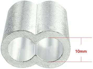 uxcell Aluminum Crimping Loop Sleeve 2mm ID Oval for 1//16-5//64 Wire Rope Pack of 50