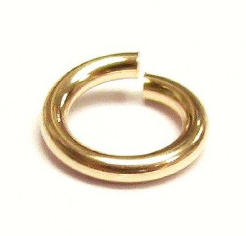 - 10 pcs 14k Gold Filled Round Open Jump Rings 6mm 18 Gauge 18ga Wire/Findings/Yellow Gold
