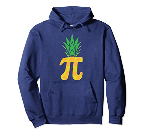 Unisex Pi-neapple Pineapple Math 3.14 March 14 Funny Pi Day Hoodie Large Navy (Pi Hoodie Kids Math)