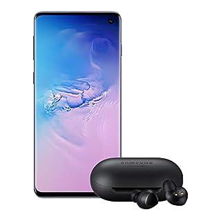 Samsung Galaxy S10 Factory Unlocked Phone with 128GB (U.S. Warranty), Prism Blue - SM-G973UZBAXAA w/Galaxy Buds