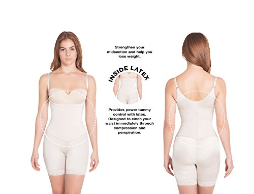 Invisibile thigh Extra Nude strength Body Shaper Compressione Full Mid Braless 4ngUn