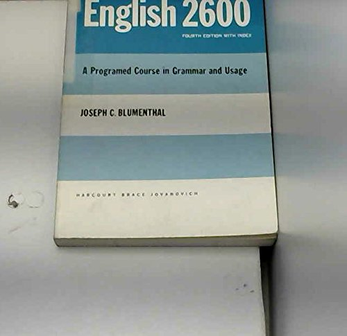 English 2600: A Programed Course in Grammar and Usage.