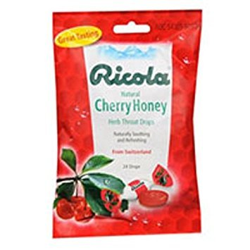 Ricola Ricola herb throat drops cherry honey - 24 drops each/pack of 3