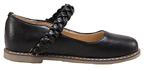 Mini De Puntera Slido Zapatos Redonda Velcro Mujeres Tacn Sinttico Aalardom Negro xq1z5twY5
