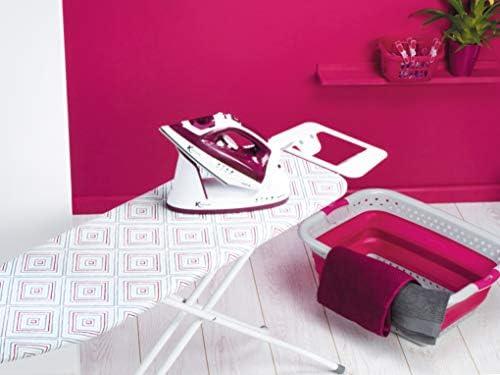 Kleeneze® KL058270UKDIAEU Diamond Stripe Foldable Ironing Board, 114 x 34 cm