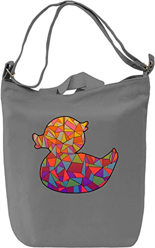 Geometric Duck Borsa Giornaliera Canvas Canvas Day Bag| 100% Premium Cotton Canvas| DTG Printing|