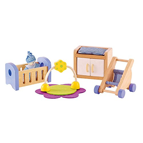 Hape Wooden Doll House Furniture Baby's Room Set from Hape