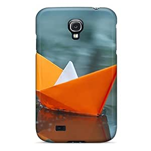 Defender Case For Galaxy S4, Paper Boats On Icey Lake Pattern