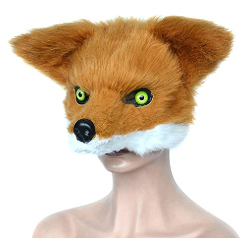(Pre-fashion Novelty Furry Fox Animal Head Halloween Costume Party Masks Masquerade Accessories)