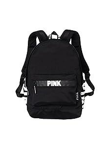 Victorias Secret Pink Campus Backpack Black/White Logo