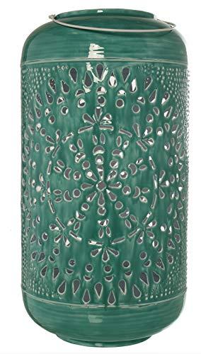 Suska-Regalos Paraguero Verde Metal con asa ø30x60/76cm